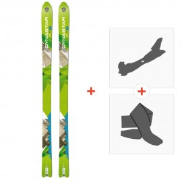 Ski Dynastar Cham Alti 83 2014 + Alpine Touring Bindings + Climbing skin