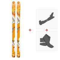 Ski Dynastar Cham Alti 89 2014 + Alpine Touring Bindings + Climbing skin