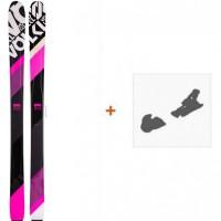 Ski Völkl 100Eight Pink 2016 + Fixation de ski