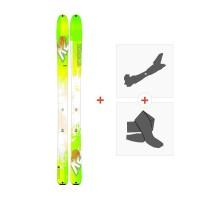Ski K2 Wayback 96 2017 + Fixations randonnée + Peau
