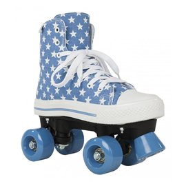 Rookie Rollerskates Canvas High Stars Blue/White 2017