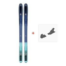 Ski Salomon N QST 92 Dark Blue Green 2018 + Fixation de ski