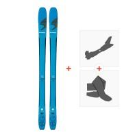 Ski Blizzard Zero G 85 Blue 2018 + Fixations randonnée + Peau