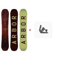 Snowboard Arbor Swoon Rocker Heritage 2016 + Fixation