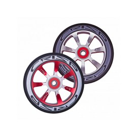 Crisp Hollowtech Spoked Wheels 110mm, Silver, Red, Black, Pair 2017