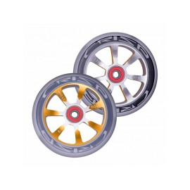 Crisp Hollowtech Spoked Wheels 110mm, Silver, Gold, Grey, Pair 2017