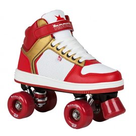Rookie Rollerskates Hype Hi Top Trainer Red Gold