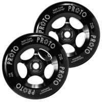 Proto Slider Pro Scooter Wheel Black-Black 2-Pack (Black) 2018