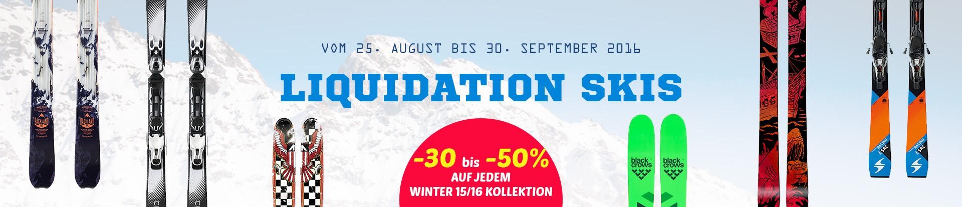 liquidation skis